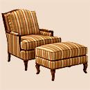 Классическое кресло с оттоманкой.