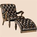 Мягкое кожаное кресло для чтения и отдыха