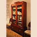 Шкаф двухчастный, книжный с гермами